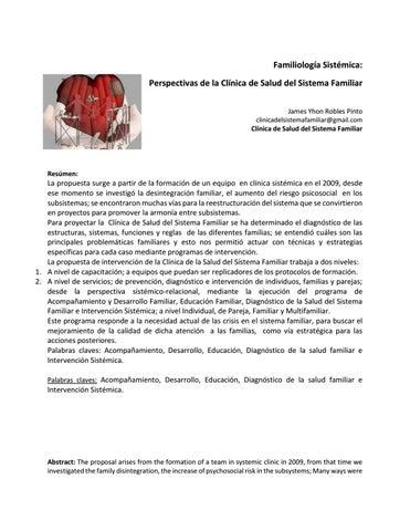 Familiología Sistémica Perspectivas De La Clínica De Salud