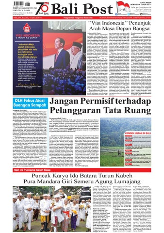 Edisi Selasa 16 Juli 2019 Balipost Com By E Paper Kmb Issuu