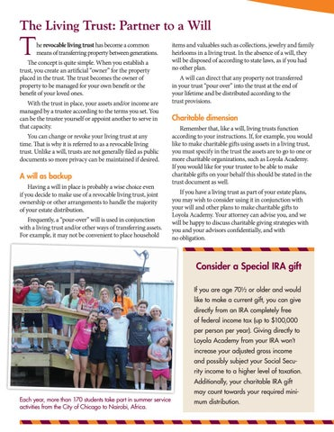 Page 2 of The Living Trust: Partner to a Will