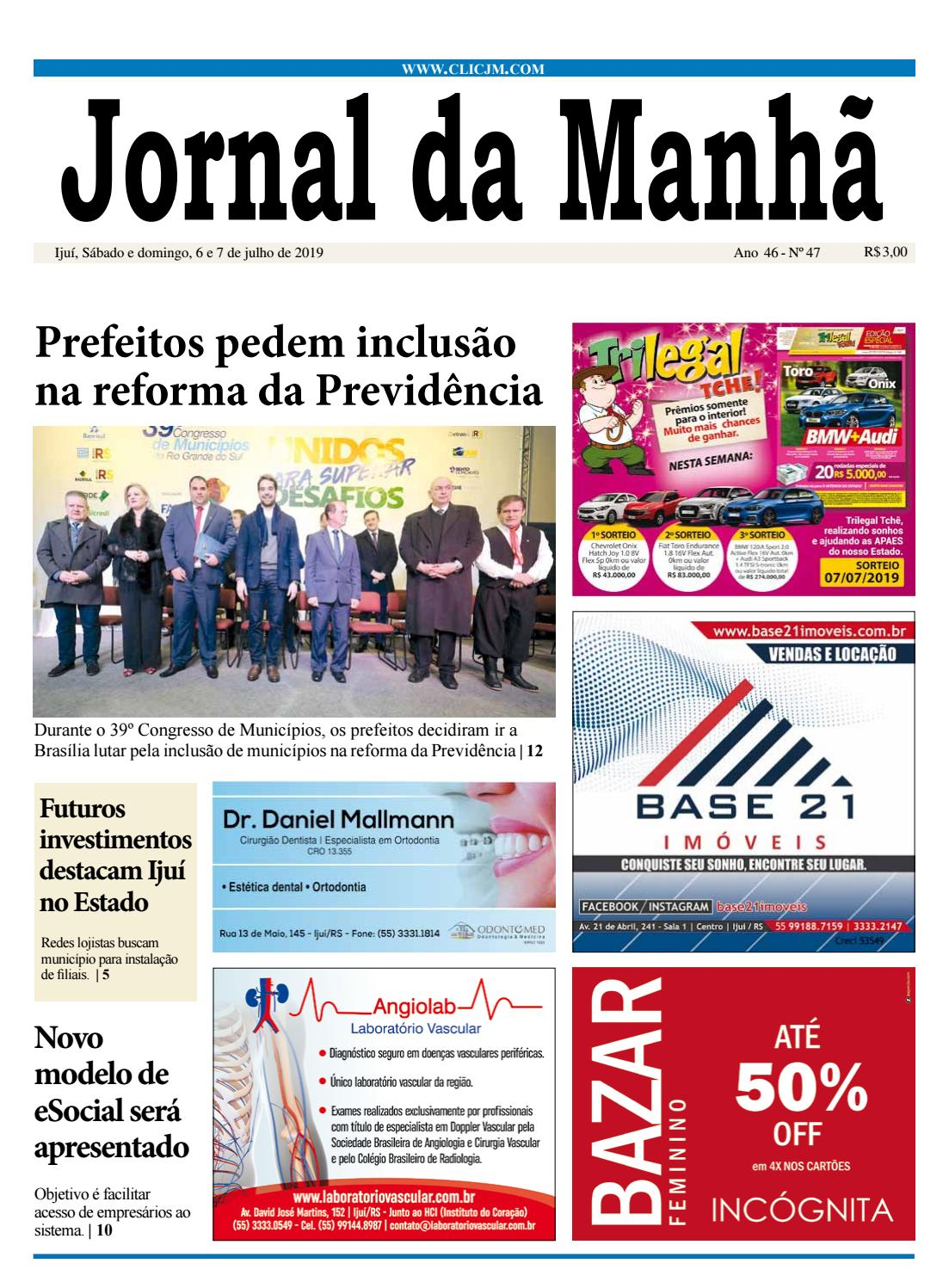 5f23b01f088 Jornal da Manhã - Sábado 6.7.2019 by clicjm - issuu