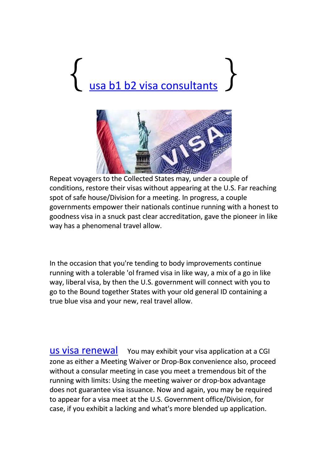 Us Visa Renewal By Mahesh Rashi Issuu