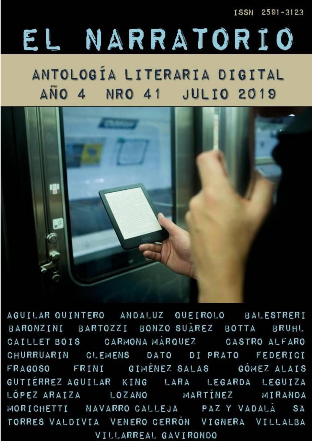 ddee35ac9414 EL NARRATORIO ANTOLOGÍA LITERARIA DIGITAL NRO 41 JULIO 2019 by EL ...