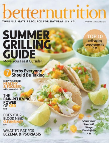 Better Nutrition Magazine August 2019 Food Cover by Active Interest