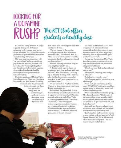 Page 22 of Looking for a dopamine rush? The KIT Club offers students a healthy dose