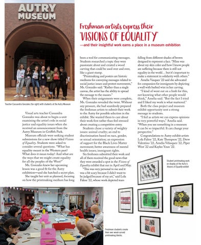Page 30 of Freshman artists express their 'visions of equality'—and their insightful work earns a place in a museum exhibition