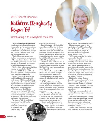 Page 52 of 2019 Benefit Honoree: Kathleen Clougherty Regan '64