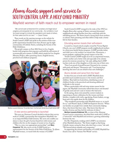Page 56 of Alums devote support and service to South Central LAMP, a Holy Child ministry