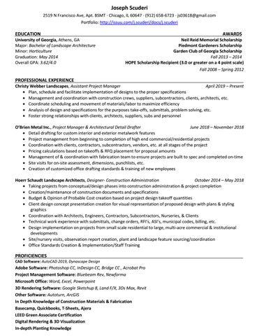 Joseph Scuderi - Resume by Joseph Scuderi - issuu
