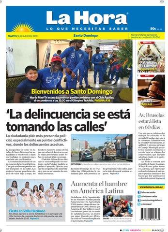 eae01c425069 Santo Domingo 16 de julio de 2019 by Diario La Hora Ecuador - issuu