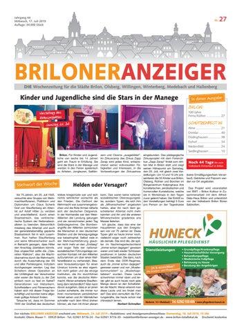 Briloner Anzeiger Ausgabe vom 17.07.2019 Nr. 27 by Brilon