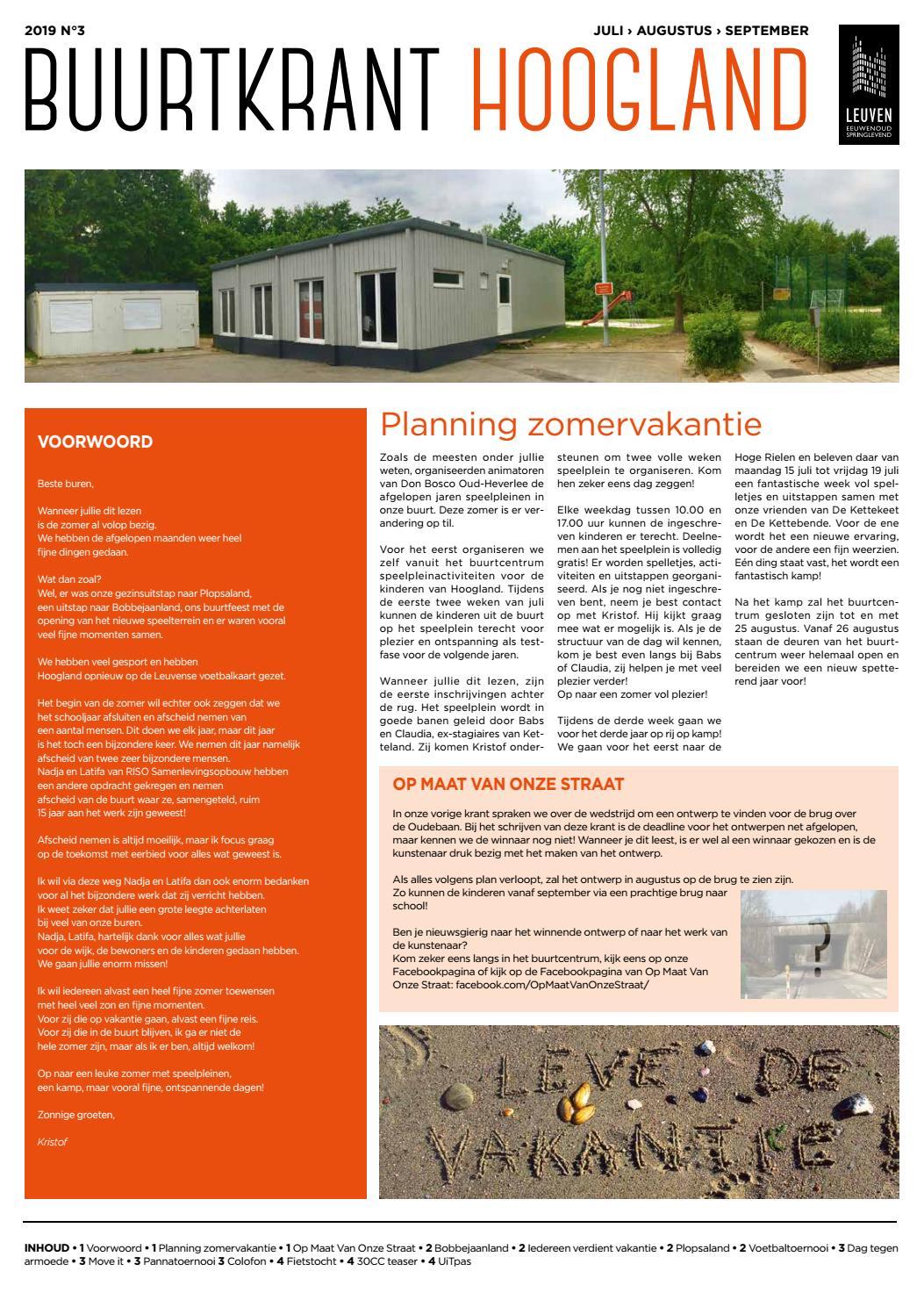 11ba2620930 Buurtkrant Hoogland - juli-augustus-september 2019 by Stad Leuven - issuu
