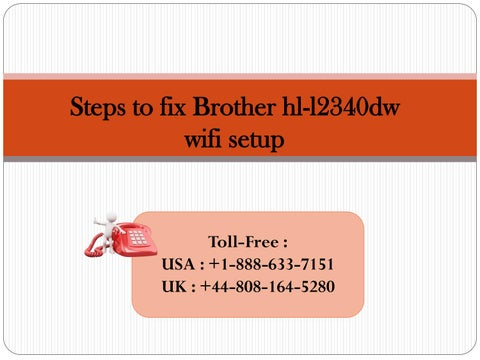 Steps to connect brother hl-l2360dw printer to wifi by katew8161 - issuu