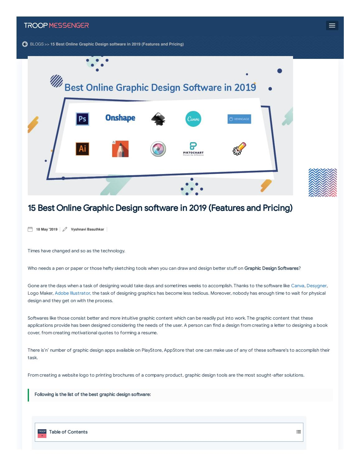 15 Best Online Graphic Design Software In 2019 Free And Paid By Dishari M Issuu