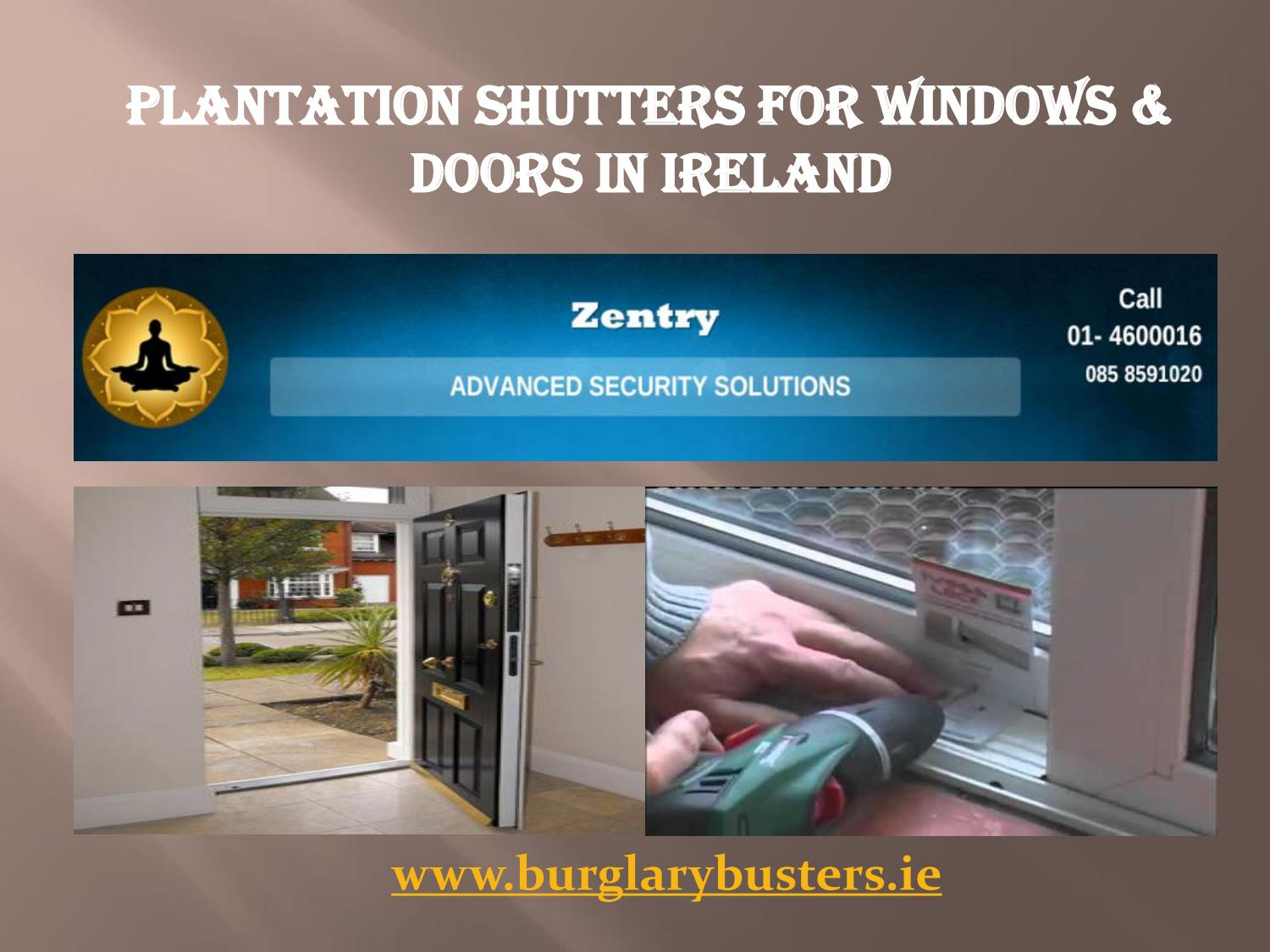 Plantation Shutters For Windows Doors In Ireland By Ciaran