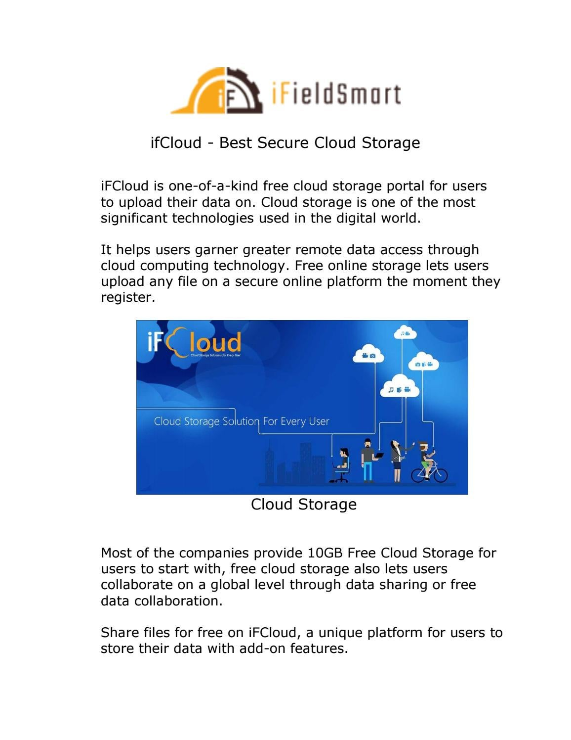 ifCloud - Best Secure Cloud Storage by ifieldsmart1 - issuu