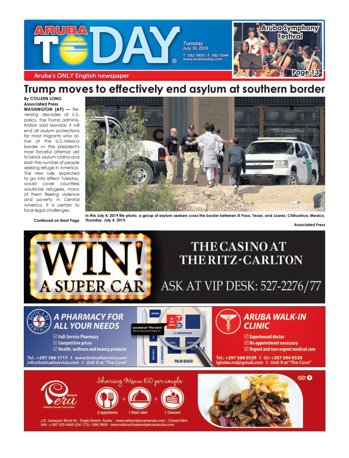 July 16, 2019 by Aruba Today - issuu