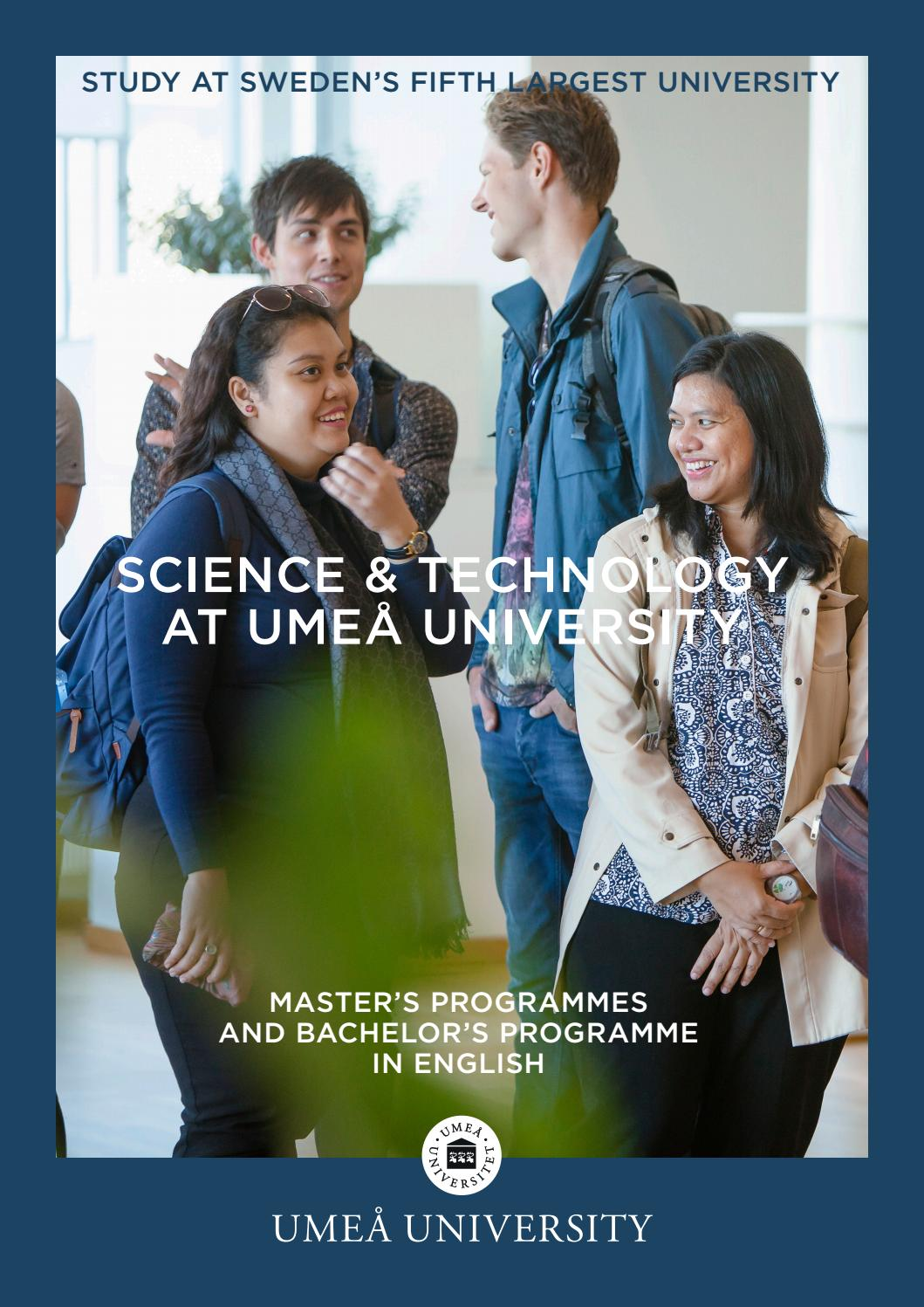 Master S Programmes In Science Technology At Umea University Sweden By Teknisk Naturvetenskapliga Fakulteten Umea Universitet Issuu