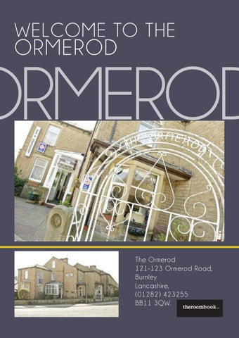Pendle And Burnley The Ormerod By Theroombook Issuu