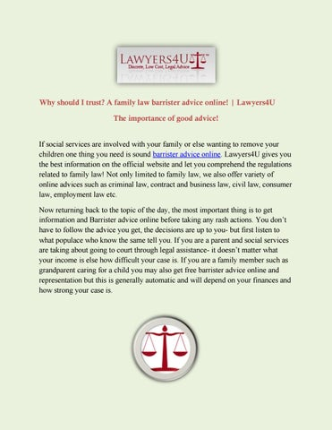 A family law barrister advice online! Lawyers4U by Lawyers4u