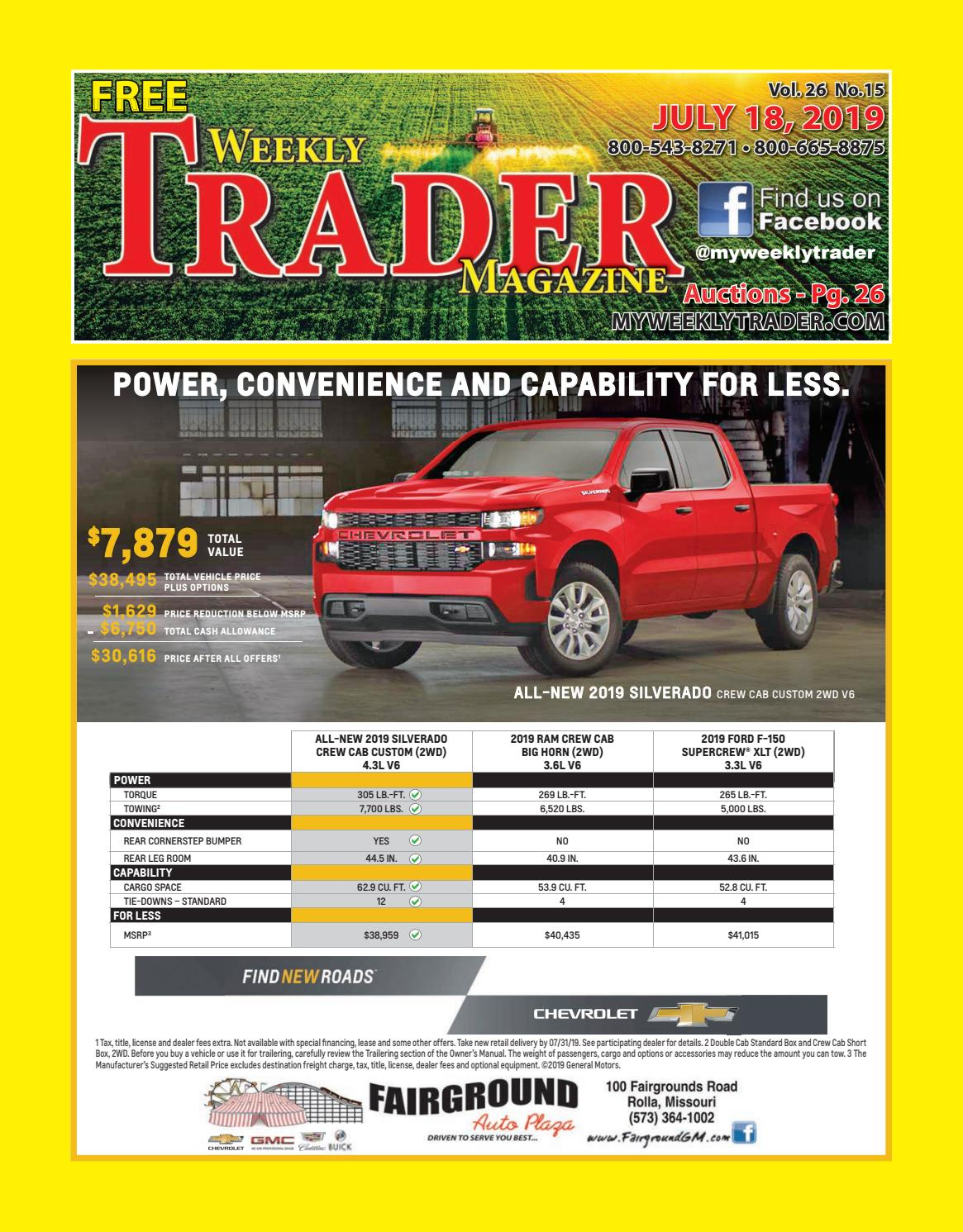 Weekly Trader July 18, 2019 by Weekly Trader - issuu