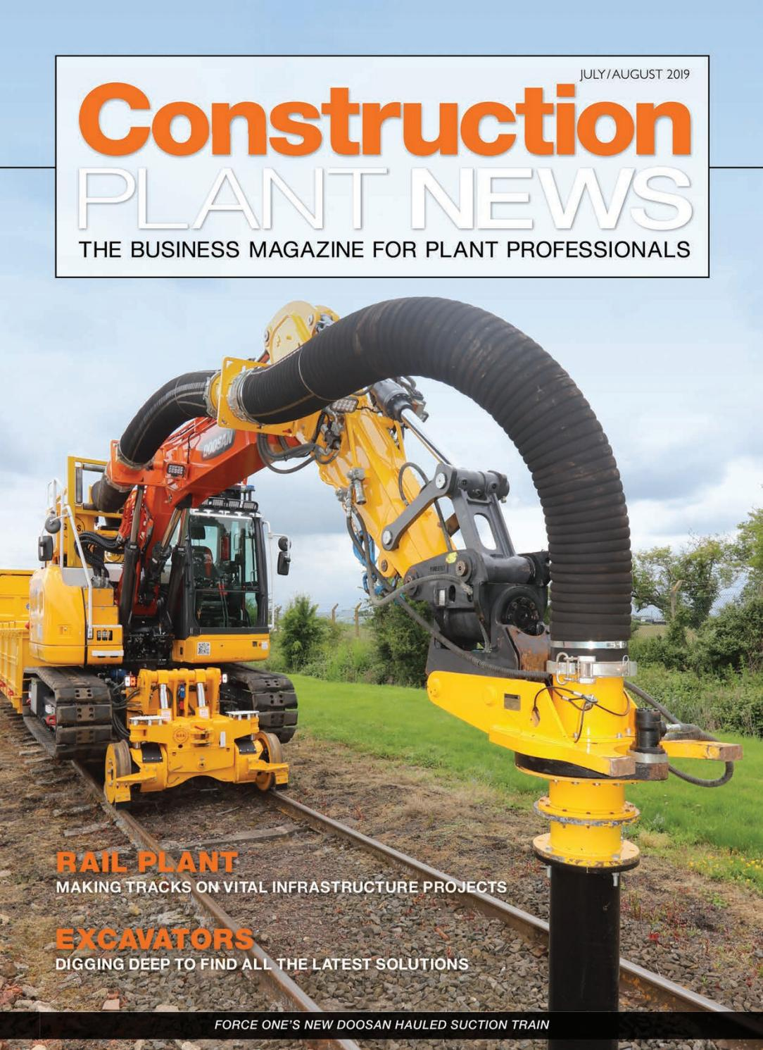 Construction Plant News July-August 19 by Hamerville Media