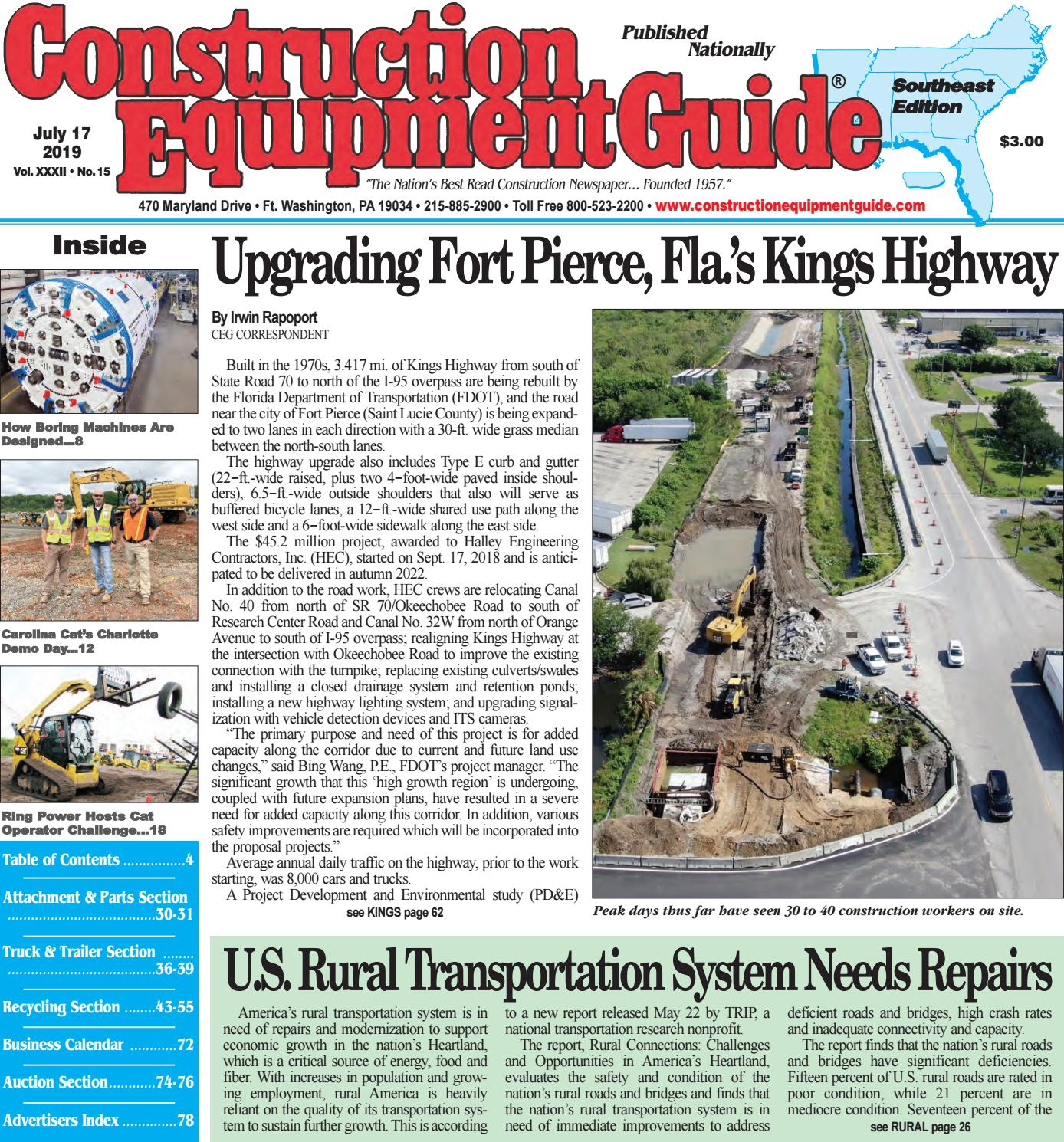 Southeast 15 July 17, 2019 by Construction Equipment Guide