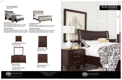 Wilshire Bedroom By Najarian Furniture Company Issuu