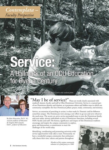 Page 4 of Contemplata - Faculty Perspective: Service