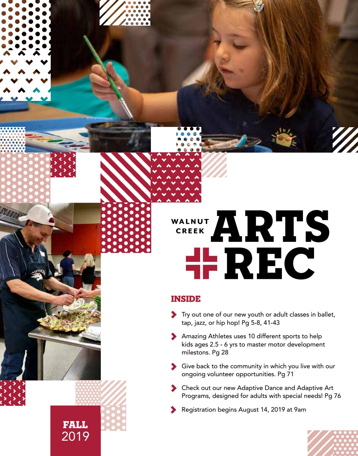 City of Walnut Creek Guide to Arts + Rec - Fall 2019 by City of