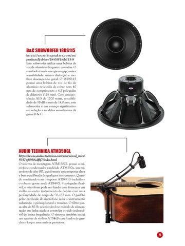 Page 9 of Vitrines Áudio e Iluminação