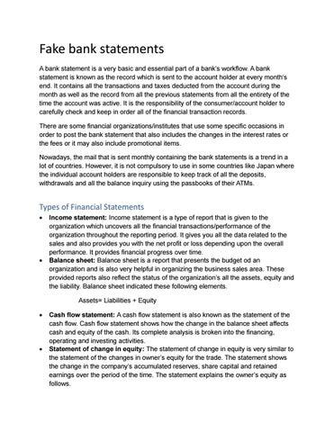 Fake Bank Statement By Sintrap69 Issuu