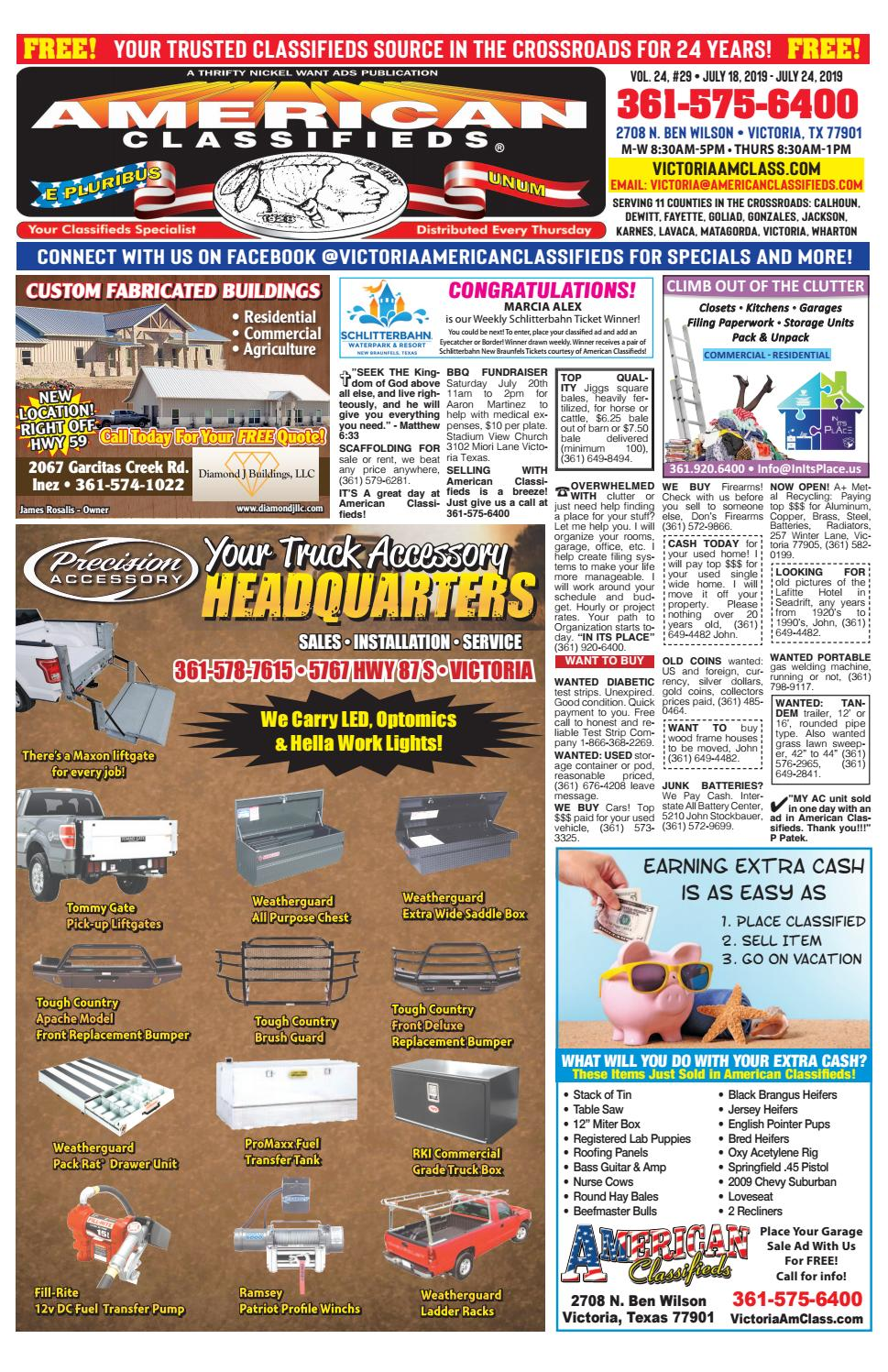 Victoria American Classifieds July 18, 2019 by American Classifieds VTX -  issuu