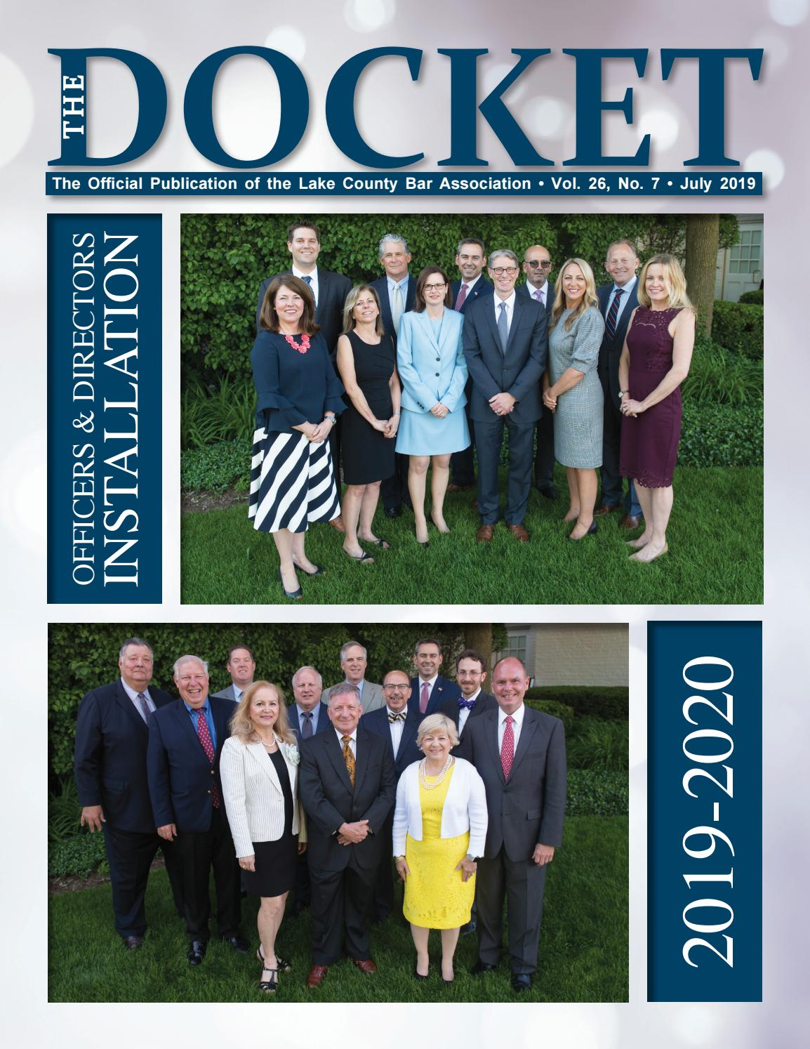 The Docket - July 2019 by Town Square Publications by Town