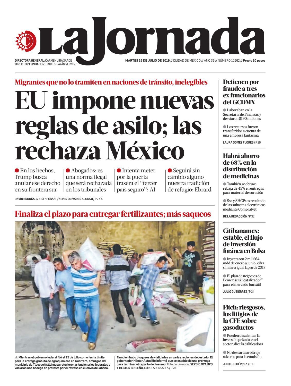 La Jornada 07 16 2019 By La Jornada Issuu
