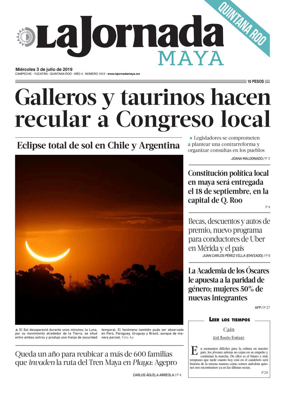 5dd3e969b985 La Jornada Maya - Miércoles 3 de julio de 2019 by La Jornada Maya ...