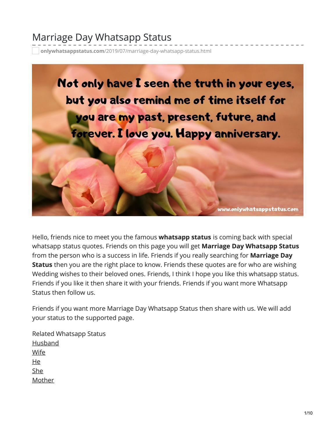 Marriage Day Whatsapp Status by whatsappstatus - issuu
