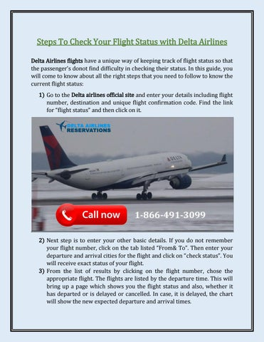 Steps To Check Your Flight Status with Delta Airlines by  DeltaAirlinesReservations - issuu
