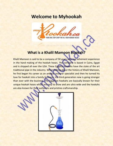 What is a Khalil Mamoon hookah by myhookah - issuu