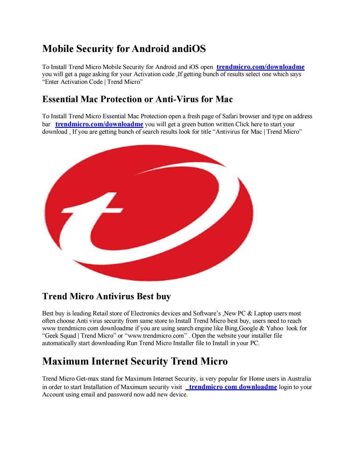 www trendmicro com/downloadme by Ajay dhiman - issuu