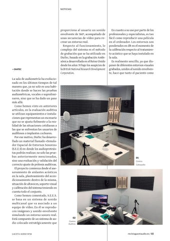 Page 15 of DiaTec. El Simulador de Entornos Sonoros, un gran avance para la Audiología
