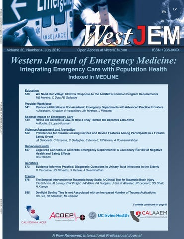 WestJEM Volume 20 Issue 4 by Western Journal of Emergency