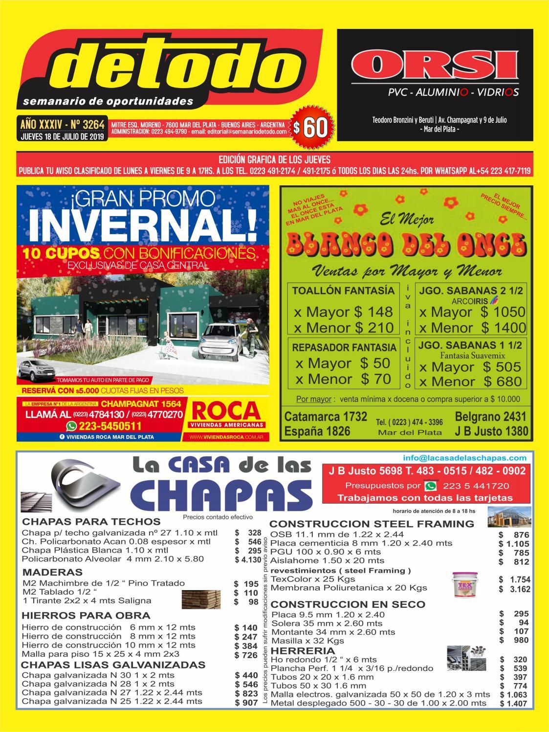 Semanario Detodo Edición N° 3264 18072019 by Semanario