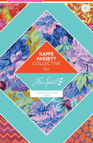 Free Spirit Fabrics Kaffe Collective February 2020 Design Roll Warm