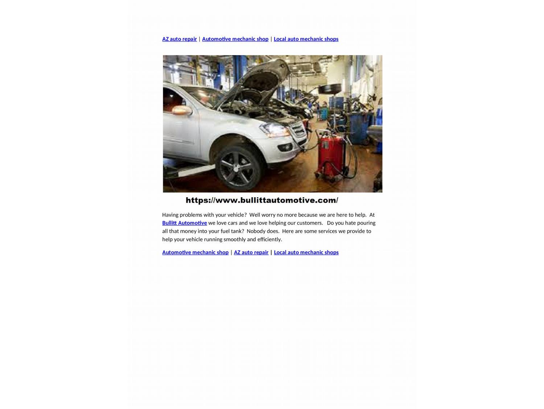 Car Repair Places Near Me >> Az Auto Repair Automotive Mechanic Shop Local Auto