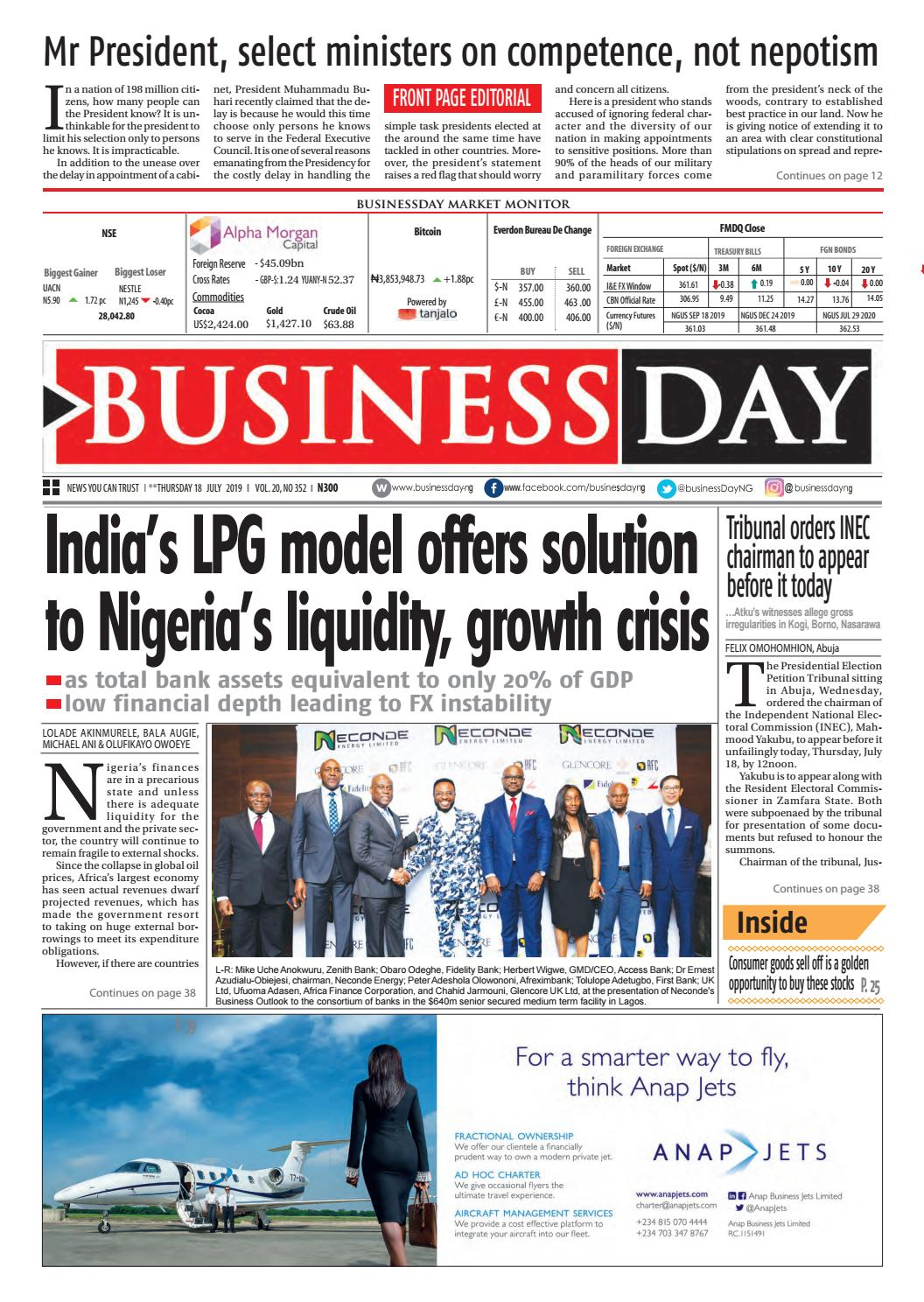 BusinessDay 18 Jul 2019 by BusinessDay - issuu