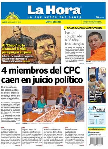 Julio Quito Hora 2019 Issuu De Ecuador 18 La By Diario WDYIE9eH2