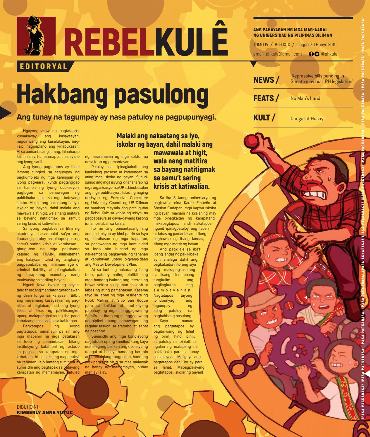 Rebel Kule Tomo 4 Isyu 9-10 by Philippine Collegian - issuu