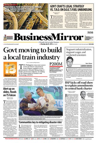 BusinessMirror July 18, 2019 by BusinessMirror - issuu