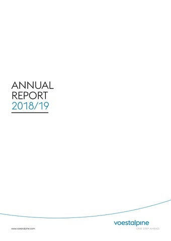 Annual Report BY 2018/19 by voestalpine AG - issuu