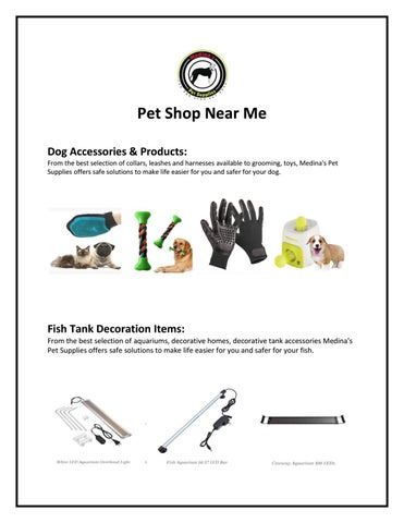 Pet Shop Near Me by Medina's Pet Supplies - issuu